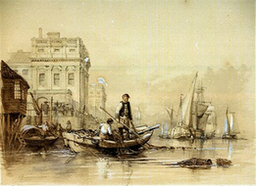 Peter Boat fishing at Greenwich from the NMM collection